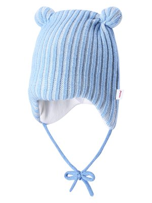 Шапка голубая с ушками | 1852290