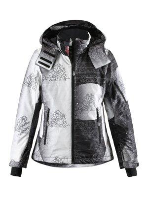 Куртка черно-белая в принт | 1852338