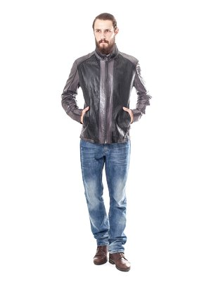 Куртка сіро-чорна | 1853167