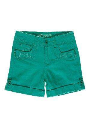 Шорты зеленые с вышивкой | 1454799