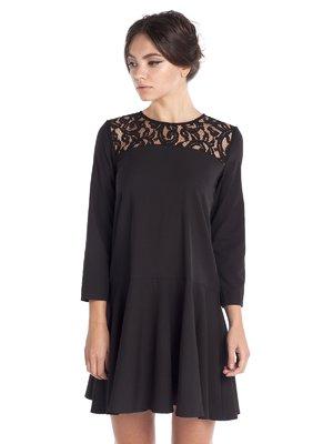 Платье черное с кружевом | 1857319