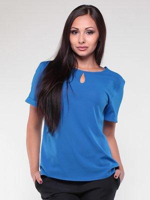 Блуза кольору електрик | 1861156