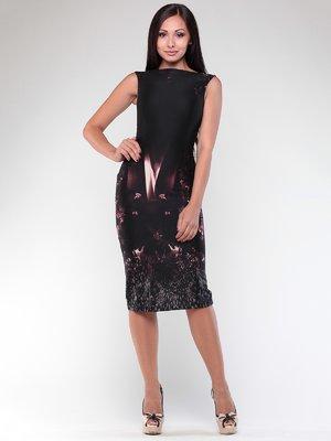 Платье черное в принт | 1861203