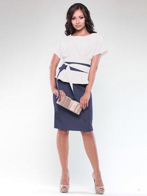Платье молочно-синее | 1850736