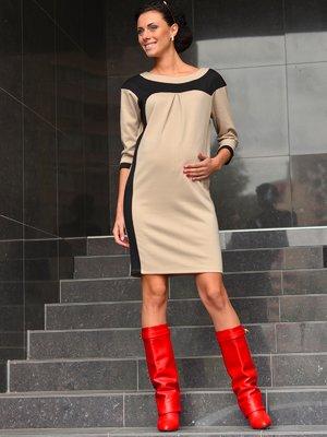 Платье бежево-черное   1872501