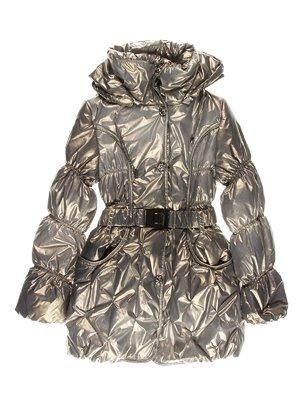 Пальто золотисто-зеленое утепленное | 1879009