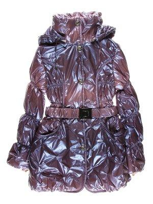 Пальто лилового цвета утепленное | 1879010
