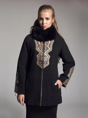 Пальто чорне з вишивкою   1891319
