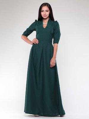 Платье темно-изумрудное | 1927790
