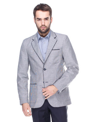 Піджак сірий з контрастним оздобленням - VD one - 1636004
