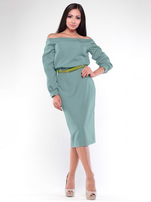 Платье оливкового цвета | 1935698