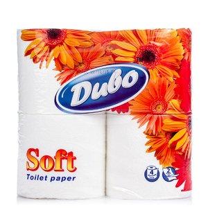 Бумага туалетная Soft 2-х слойная (4 рулона) | 1935143