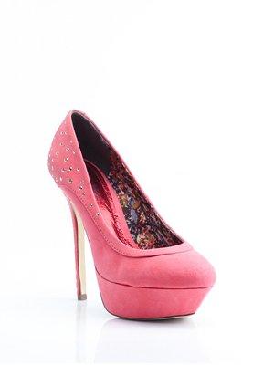 Туфлі червоні з декором | 1792395