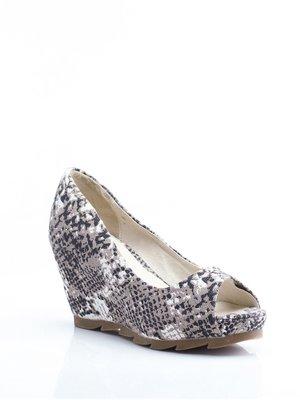Туфлі чорно-бежеві в принт - Bronx - 1792263
