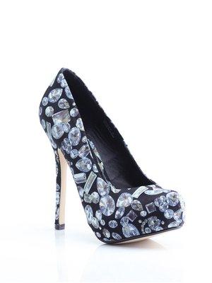 Туфлі чорні у принт | 1792386