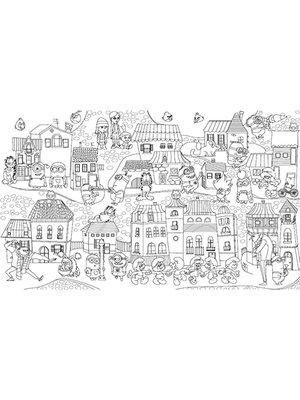 Шпалери-розмальовки «Міньйони в місті» | 1963462