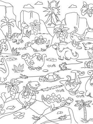 Обои-раскраски «Динозавры» | 1963463