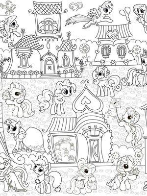 Шпалери-розмальовки «Поні» | 1963464