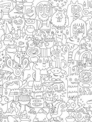 Шпалери-розмальовки «Чудики» | 1963465
