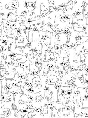 Шпалери-розмальовки «Веселі коти» | 1963470