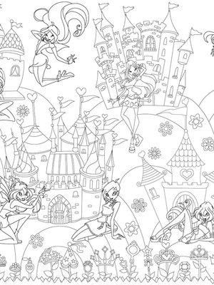 Шпалери-розмальовки «Принцеси Вінкс» | 1963474