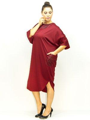 Платье бордовое | 1965252