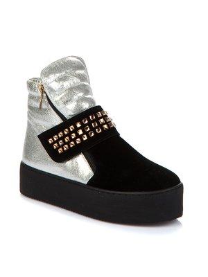 Ботинки черно-серебристые | 1970340