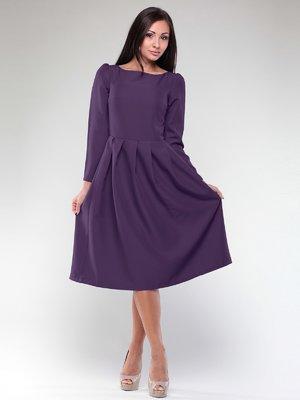 Платье темно-фиолетовое с поясом | 1970871