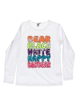 Джемпер білий з написами | 1975376