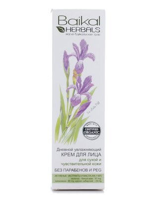 Крем для обличчя зволожувальний денний (50 мл) - Baikal Herbals - 501211