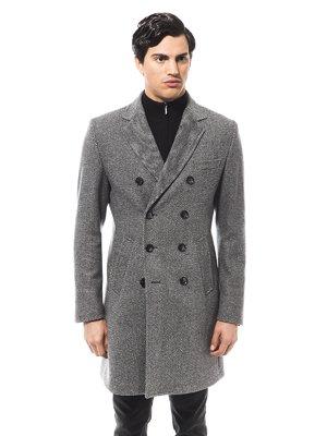 Пальто серое в рисунок | 1990796