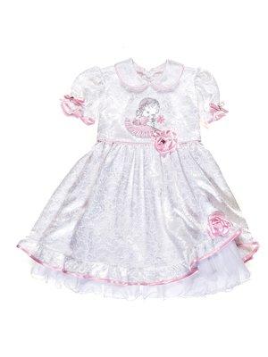 Платье белое в цветочный рисунок   1651566