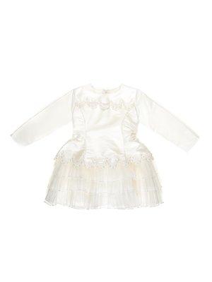 Сукня молочного кольору з декором | 3201857