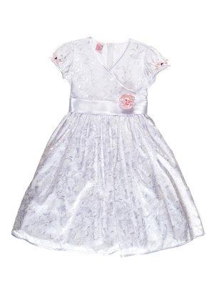 Платье белое с цветочным принтом   3343244