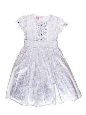 Платье белое с цветочным принтом   3342803