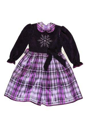 Платье клетчатое с рисунком   3342802