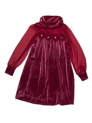 Сукня бордова оксамитова | 3202042