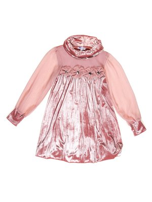 Сукня персикового кольору оксамитова | 3202037