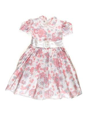 Платье молочное в цветочный принт   3342054
