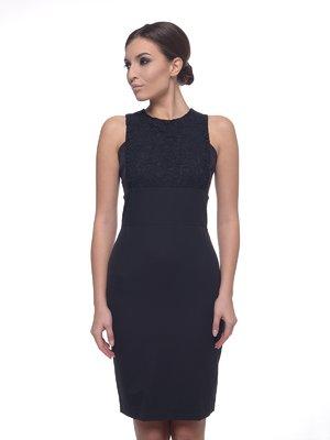 Сукня чорна з квітковим візерунком | 1673195