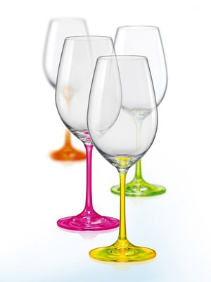 Набор бокалов для вина Neon (4х350 мл) | 2008746