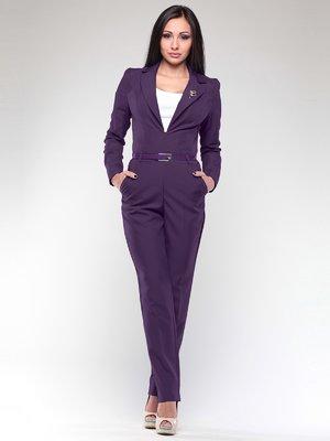 Комбинезон фиолетовый с поясом | 2004395