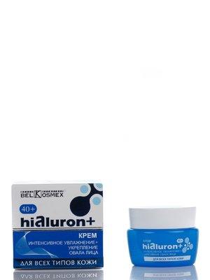 Крем Hialuron+ «Інтенсивне зволоження. Зміцнення овалу обличчя» 40+ (48 г) | 2023852