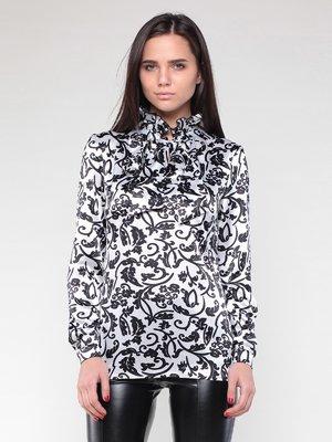 Блуза бело-черная в принт | 2024247