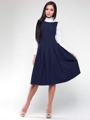 Сукня-сарафан темно-синя | 2025295