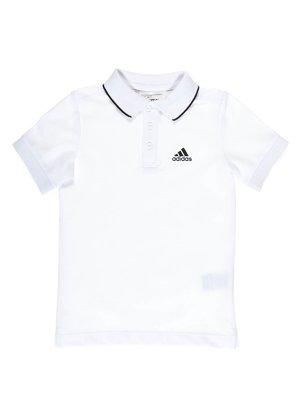 Футболка-поло біла | 1964868