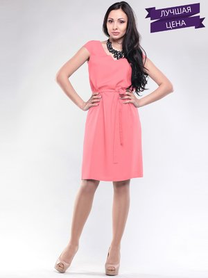 Платье светло-коралловое | 2044815