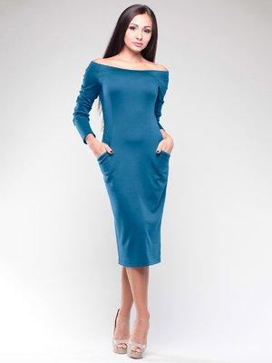 Сукня темно-бірюзова | 2046258