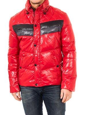 Куртка червона з контрастними вставками | 2048375