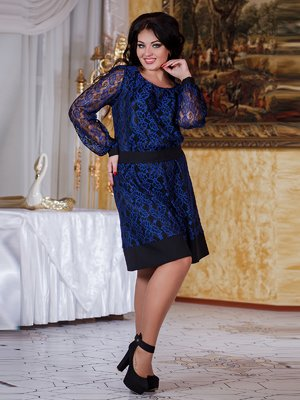 Платье сине-черное - Funny Love - 2049753